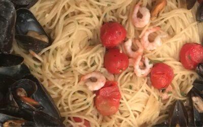 Lyxig pasta med musslor och räkor!