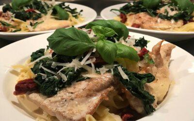 Middagstips på krämig pasta med kyckling!