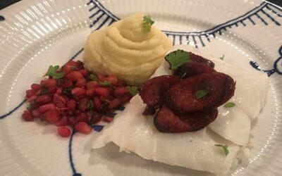 Skrei eller torsk med chorizo